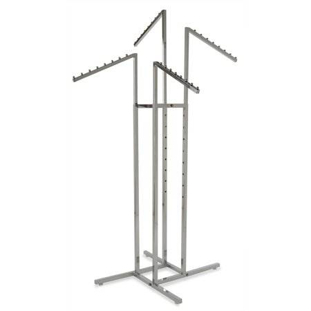 4 way clothing rack slanted arms