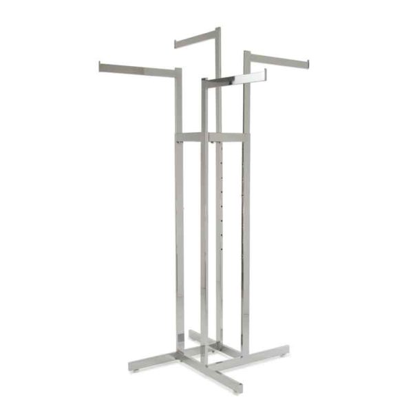 4 way clothing rack straight arms