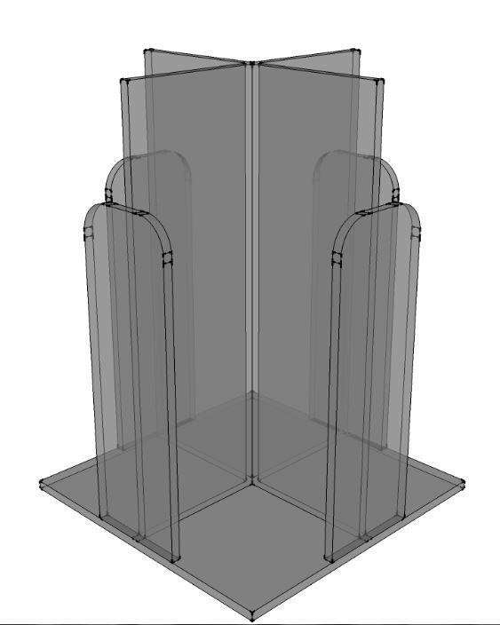 Acrylic Lid Dispenser