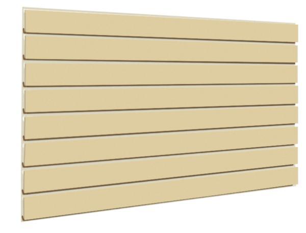 Almond Slatwall Panel