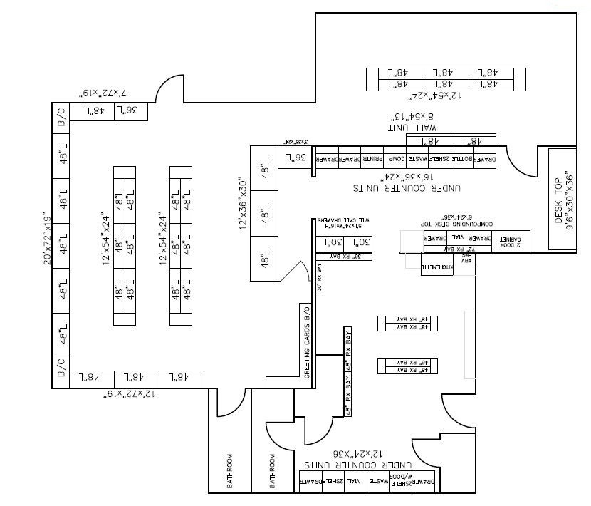 Retail Shelving Floorplan