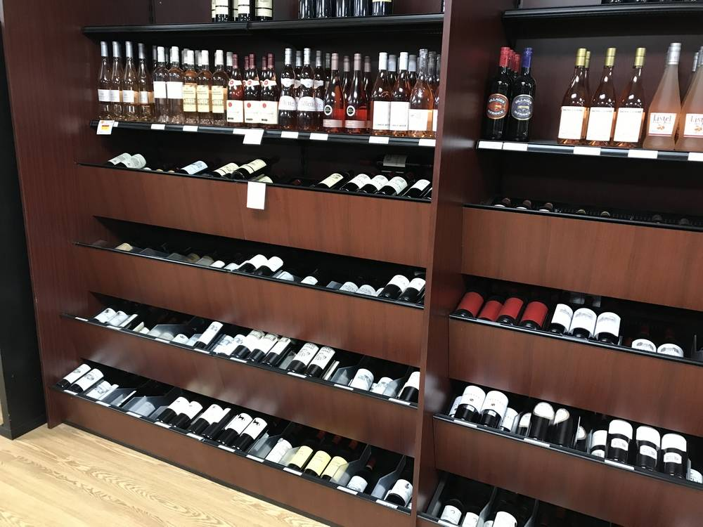 Liquor Store Wall Unit Display
