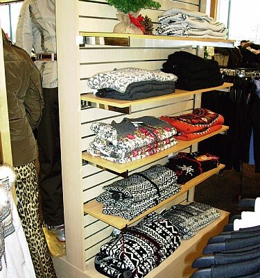 Wood Clothing Display