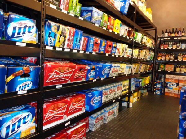 Beer Cooler Shelves