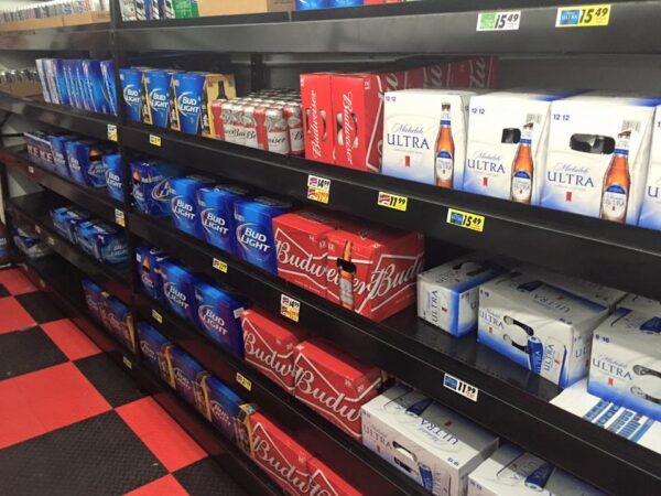 Beer Cooler Display Shelving